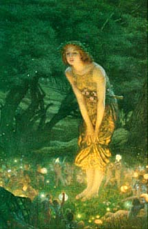Midsummer Eve, painting by Edward Robert Huges, 1908