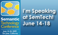 I'm Speaking at SemTech 2009